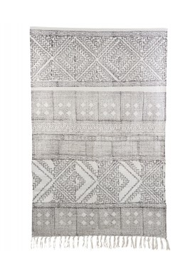 House Doctor  Black/White Spring Rug, 180X180 Cm
