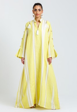 Dandosha Yellow Maxi kaftan