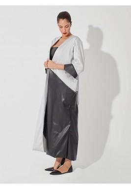 Oversized pockets abaya