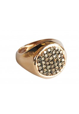 Pave knight Ring-Brown Diamond