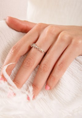 Person white gold ring