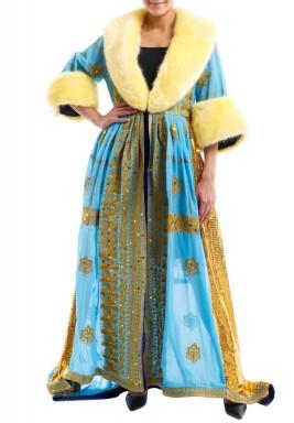 Turquoise Furry dress