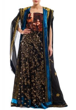 Black Thoub with Dress