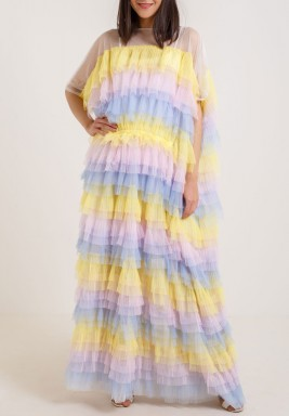 Colorful Ruffled Tulle dress