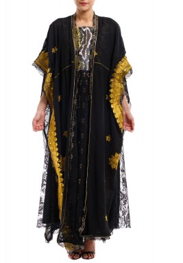 Black Cape Thoub with Dress