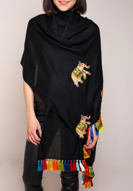 Janavi Jewelled Elephant Scarf