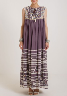 Varun & Nidhika Georgete Long flare Dress