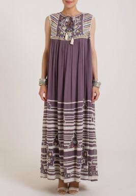 Varun & Nidhika Georgete Long flare Dress