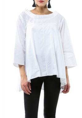 Ritsh Kumar-White loose top