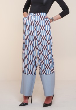 Kanika Goyal block grid pants