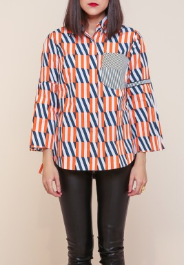 Kanika Goyal block grid shirt