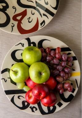 Round serving plate medium