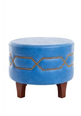 Round stool sky blue