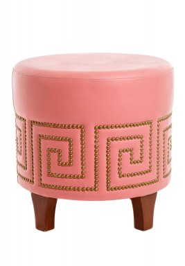 Round stool pink