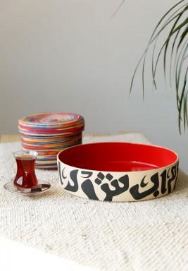 Round dish 30 cm - Red