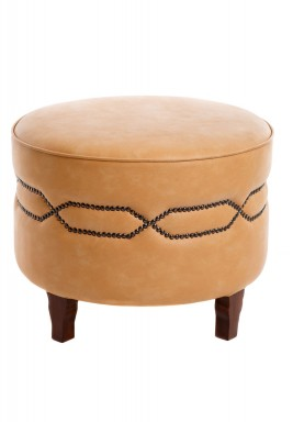Round stool beige