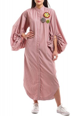 Pink Striped Gala Kaftan