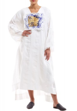 Splashed Gold Kaftan long sleeved