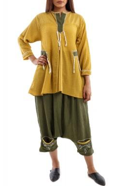 Mustard Sherwal Set