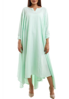 High Low Floral Kaftan mint green