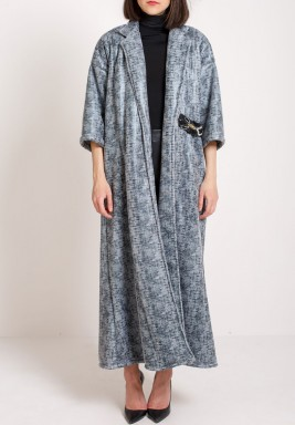 Shaded Grey Bisht