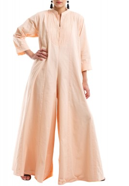 Pink long sleeves jumpsuit
