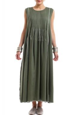 Khaki upside in dress
