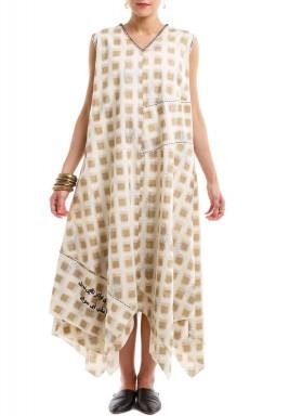 Gold square ketba dress