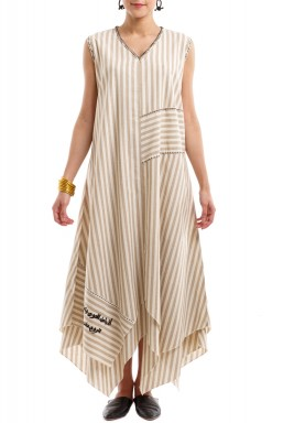 Beige Lined Ketba Dress