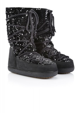 Ikki sequin tall black boots