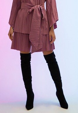 Pink Classic Pleated Shorts