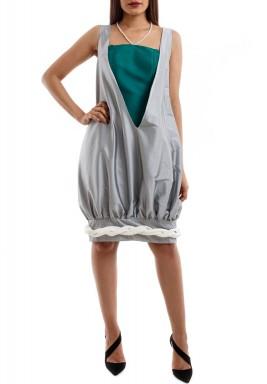 Silver Puff Dress