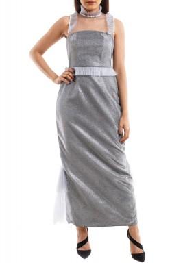 Peplum Silver Armor Dress