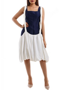 Navy Blue Greek Dress