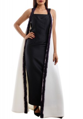 Black and White Drama Gown