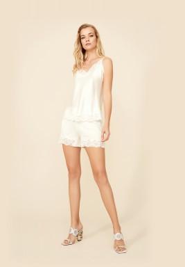 Jasmine - Rayon Camisole and Short Set - Off White