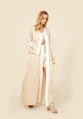 Orla Sand Rayon Robe