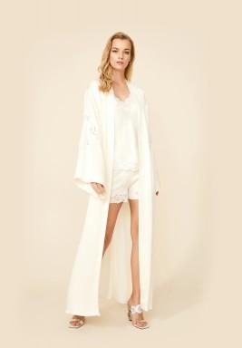 White Robe Rayon Set