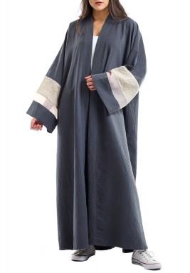 Stone blue abaya