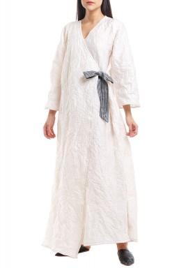 Off-White Hand Painted Kimono Kaftan