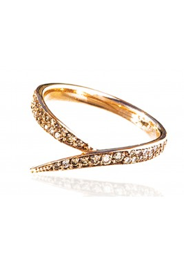 Horse Tail Ring-Brown Diamond