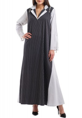 The zipper dress kaftan