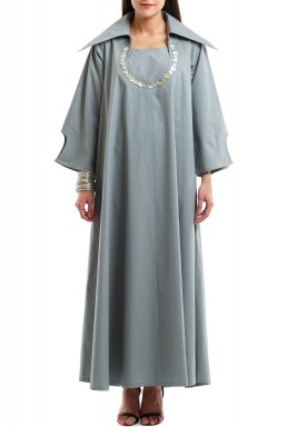 The double effect Buttons dress kaftan