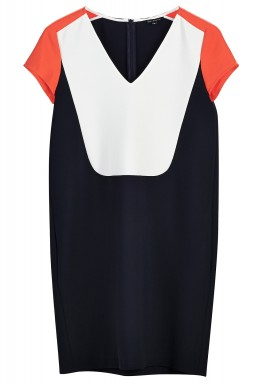 Color blocked dress