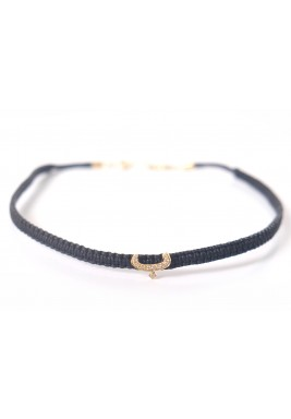 Ba'a Diamond with 18 carats Gold Arabic Calligraphy Choker