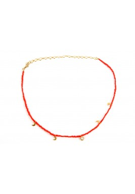 Red & Yellow Gold With Diamond Stone Choker