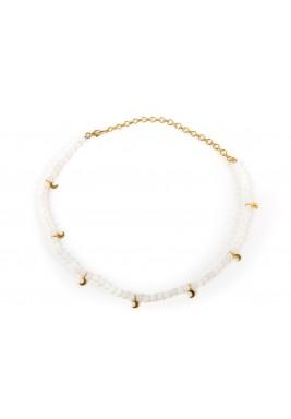 Amulet choker (white Agate stone)