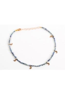 Amulet anklet (Black Pearls)
