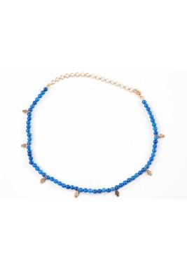 Amulet choker (blue agate stone)
