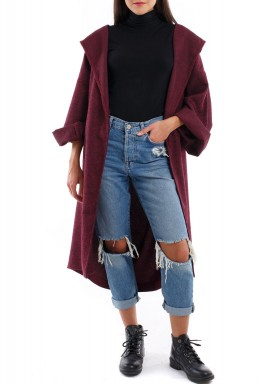 Textured Coat pink